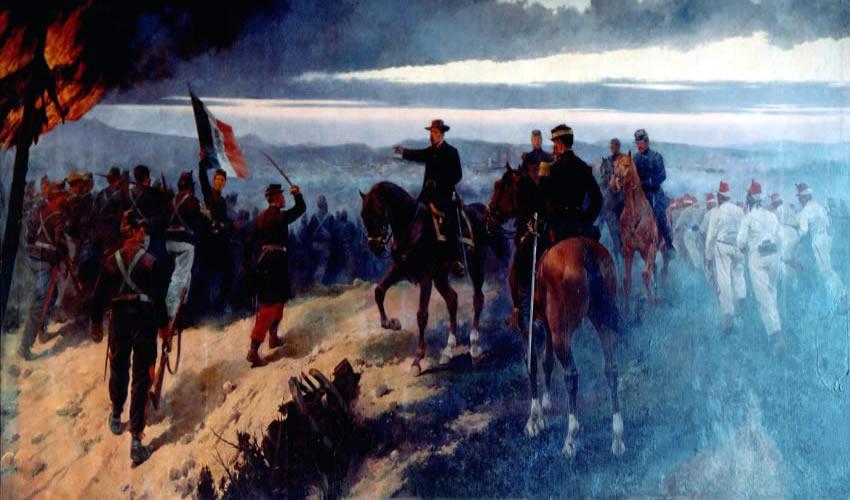 José Cusachs, Batalla del 2 de abril, óleo sobre tela, 1902, Museo Nacional de Historia
