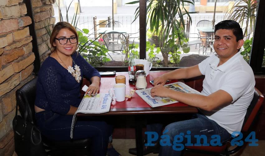 En Las Antorchas almorzaron Mayte Padilla Padilla y Luis Delgado Mora