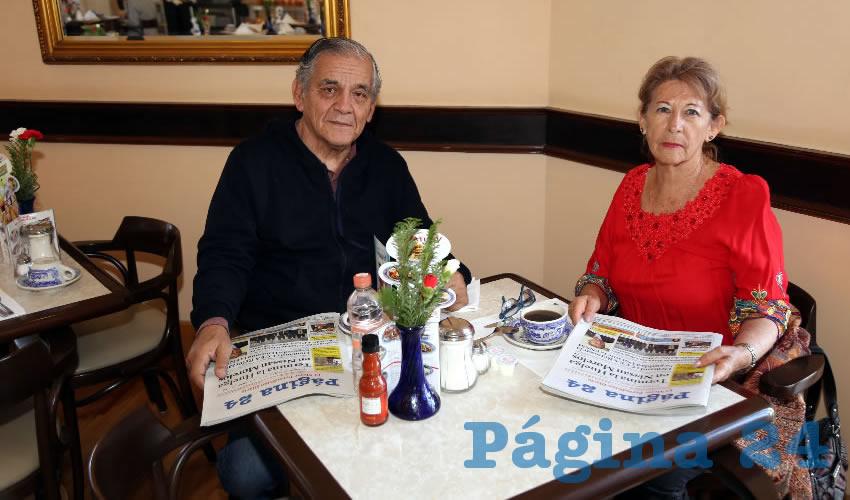 En Sanborns Francia compartieron el pan y la sal Raúl Orozco Galván y María Mónica López González