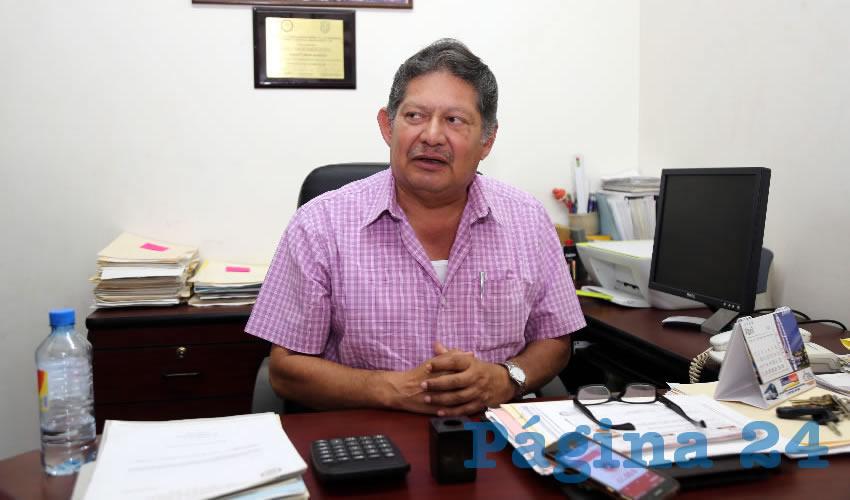 Roberto Mora Márquez, secretario general del Sindicato de Trabajadores de Autotransporte Urbano, Suburbano de Personal, Anexos y Similares del estado