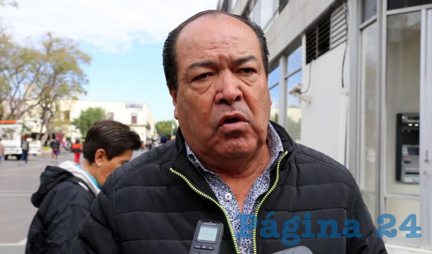 Refugio Eudave Ortiz, presidente de la asociación Taxistas Revolucionarios de Aguascalientes