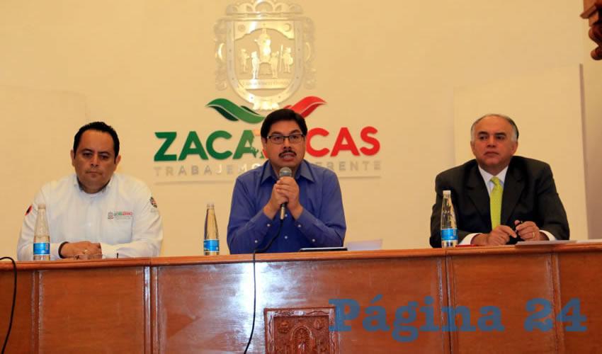 Estuvieron presentes Alfonso Vázquez Sosa, director del IZC, Eduardo Yarto Aponte, titular de la Secturz, y Antonio Caldera, titular de PC (Foto: Rocío Castro Alvarado)
