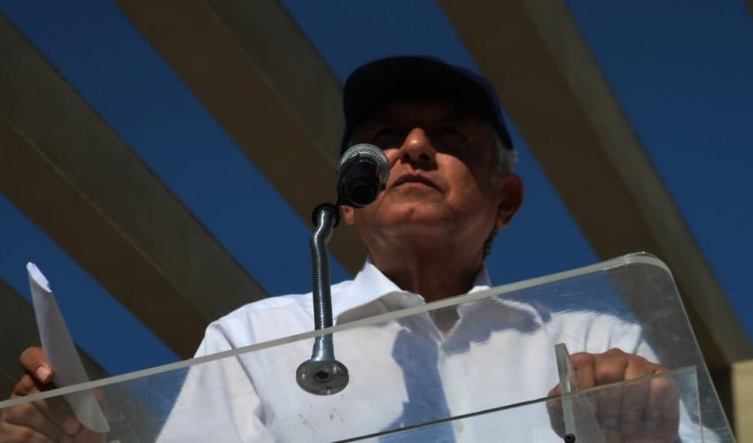 Ciudad Acuña, Coahuila.- El presidente nacional de Morena, Andrés Manuel López Obrador (Foto: Morena)