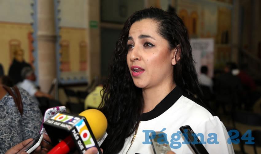 Paola Nadine Cortes Calzada, conferencista (Foto: Eddylberto Luévano Santillán)