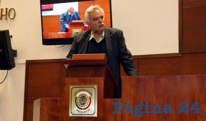 """José Luis Medina Lizalde, legislador: """"Los convenios de seguridad que se firmaron con Aguascalientes y Jalisco son nomás para la foto"""" (Fotos Merari Martínez Castro)"""