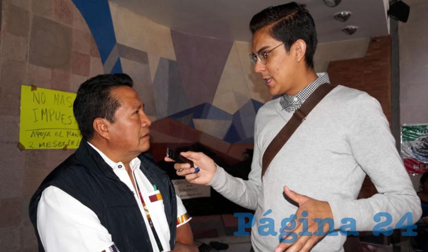"""Manuel Alvarado Pérez, líder del Barzón en Zacatecas: """"Muchas de las tierras están rentadas, principalmente de riego"""" (Foto Merari Martínez Castro)"""