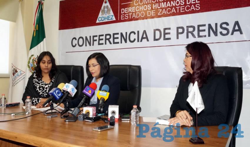 """María de la Luz Domínguez Campos, titular de la CDHEZ: """"En separos de 53 municipios no cuentan con personal médico"""" (Foto Merari Martínez)"""