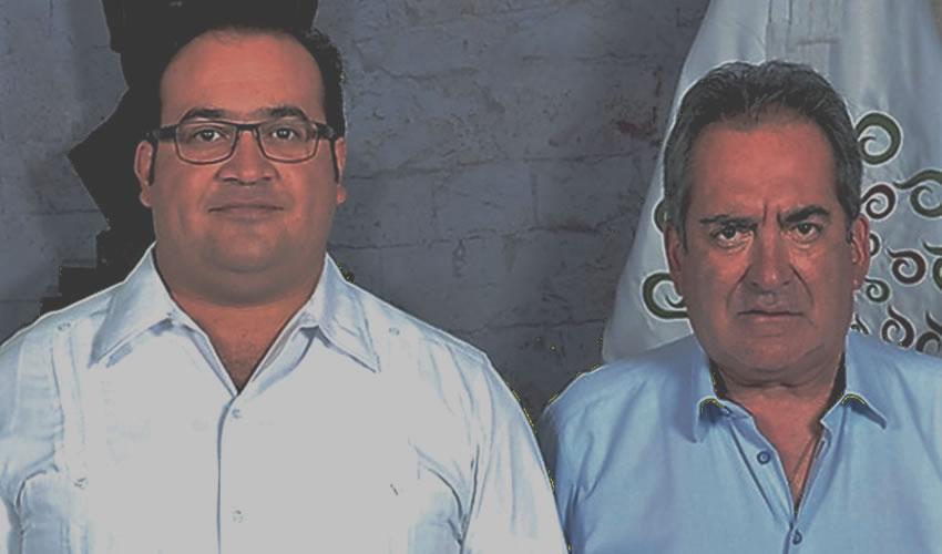 Carlos Lozano de la Torre, posa con su amigo Javier Duarte de Ochoa ...el exgoberladrón de Veracruz está preso en Guatemala...