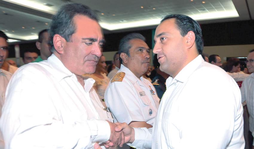 Carlos Lozano de la Torre y su amigo Roberto Borge Angulo ...desaparecido anda el exmandatario de Quintana Roo...