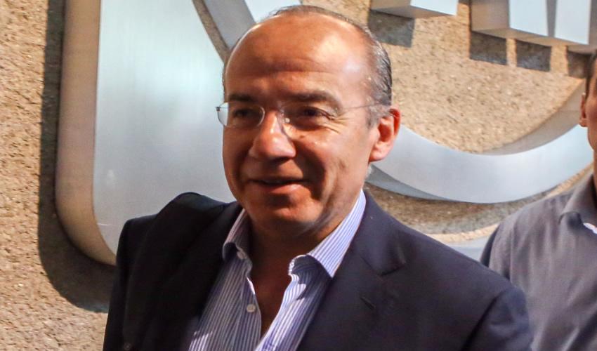 El expresidente Felipe Calderón