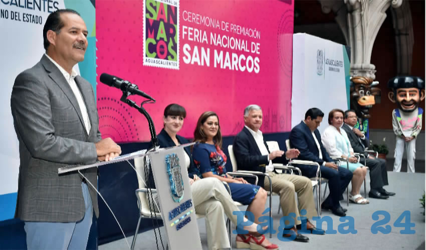 Martín Orozco encabezó la ceremonia de premiación de los certámenes que este año organizó el Patronato de la Feria Nacional de San Marcos