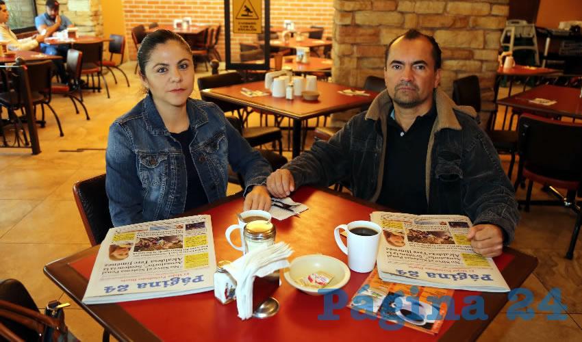 En Las Antorchas almorzaron Yessica Montoya Ortiz y Fernando Ochoa Jiménez