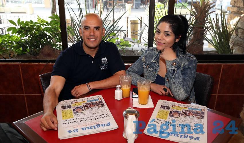 En Las Antorchas almorzaron Rodrigo Romo Yaber y Karla Gaytán López