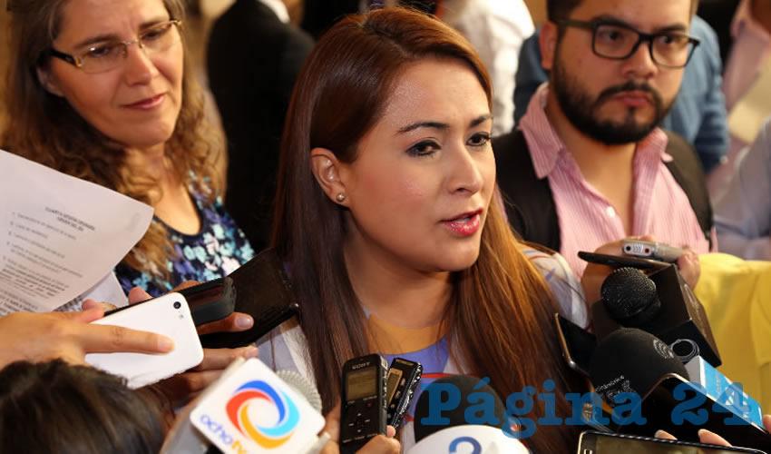 Teresa Jiménez Esquivel, presidenta municipal de Aguascalientes (Foto: Eddylberto Luévano Santillán)