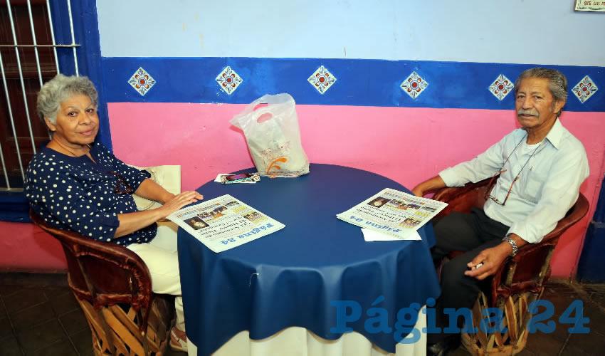 En La Saturnina compartieron el pan y la sal Francisca Monroy Verdejo y Juan Mariño Enríquez