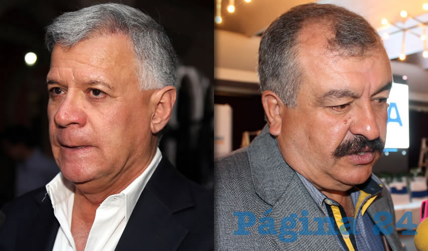 José Ángel González Serna, presidente del PFNSM | Alejandro Alba Felguérez, expresidente del PFNSM