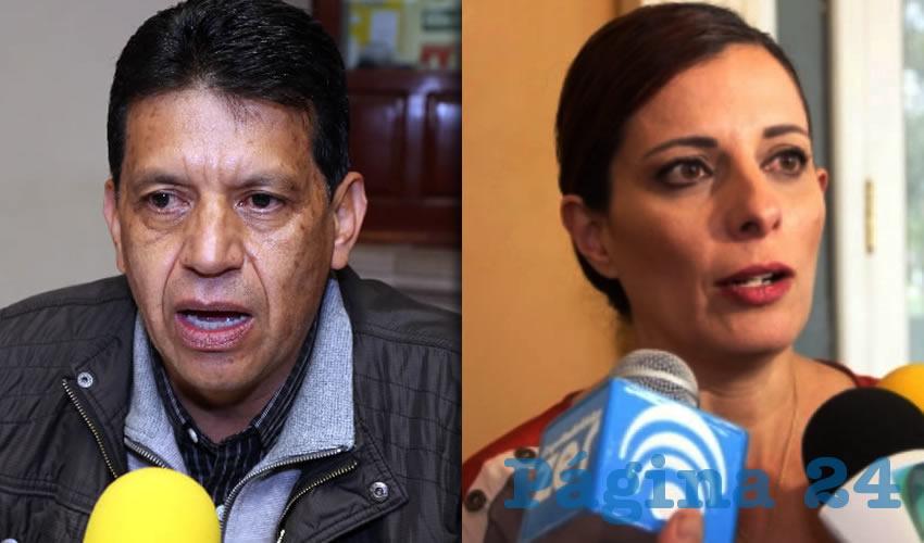 Marco Antonio Licón Dávila, secretario de Obras Públicas | Ana Susana López de la Parra, presidenta de MEMAC