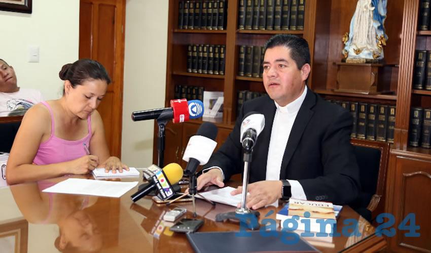 Carlos Alberto Alvarado Quezada, vocero de la Diócesis de Aguascalientes (Foto: Eddylberto Luévano Santillán)