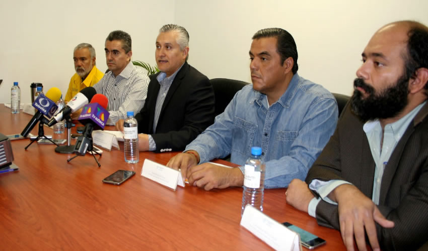 Conferencia de prensa de la SMAE, Conafor, Protección Civil Estatal y Profepa