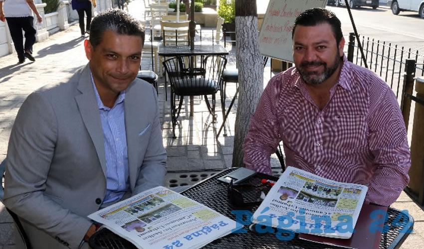 En el restaurante Mitla departieron Alejandro Berenguer Ibarrondo y Enrique Escalante Corella