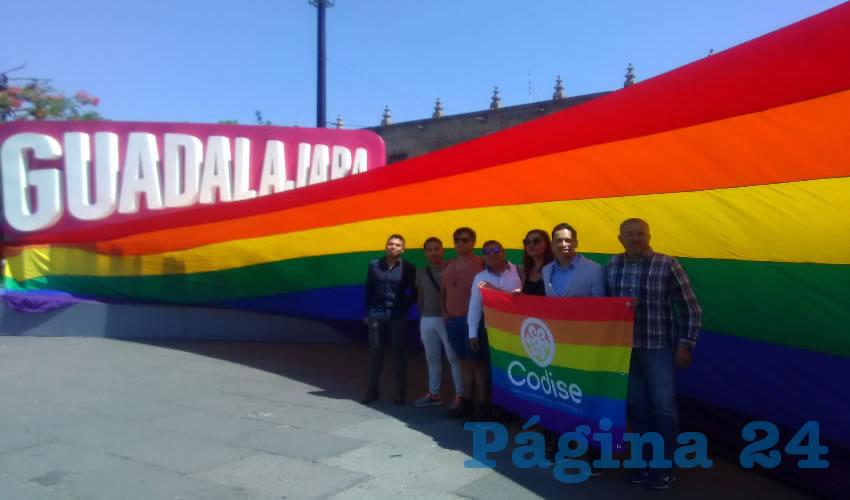 Los activistas se manifestaron el marco del Día Nacional de la Lucha contra la Homofobia, que se conmemora hoy/Foto: Elizabeth Ríos