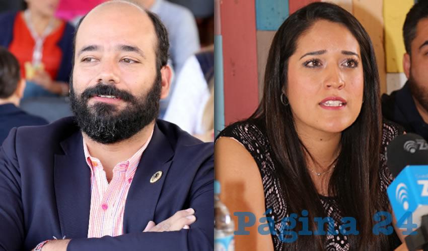 Carlos Rodrigo Martín Clemente, extitular de Proespa | Jennifer Kristel Parra, regidora de Aguascalientes