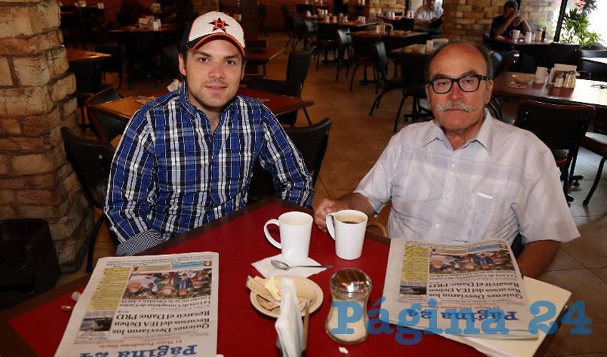 En el restaurante Las Antorchas compartieron el pan y la sal Antonio Guerrero Barba y Gustavo Guerrero Falcó