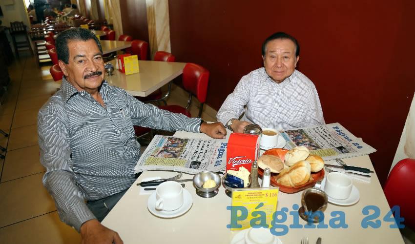 En el Mitla desayunaron Jorge Valdés Macías y José Francisco Solís Gómez