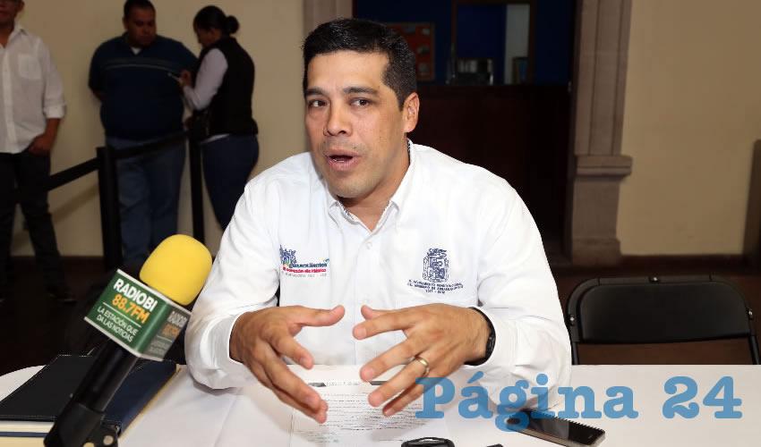 Leonardo Montañez Castro, secretario del Ayuntamiento (Foto: Eddylberto Luévano Santillán)
