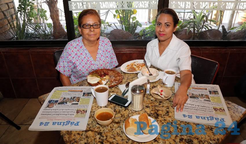 En Las Antorchas compartieron el pan y la sal Silvia Juárez Girón y Idania Tijerina Juárez