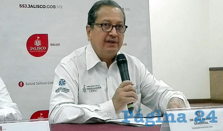 El coordinador operativo del Cepaj, José Parra Sandoval, llamó a la ciudadanía a no minimizar las medidas de prevención durante las lluvias, puesto que los accidentes y muertes se dan cuando uno menos lo espera/Foto: Francisco Andalón López