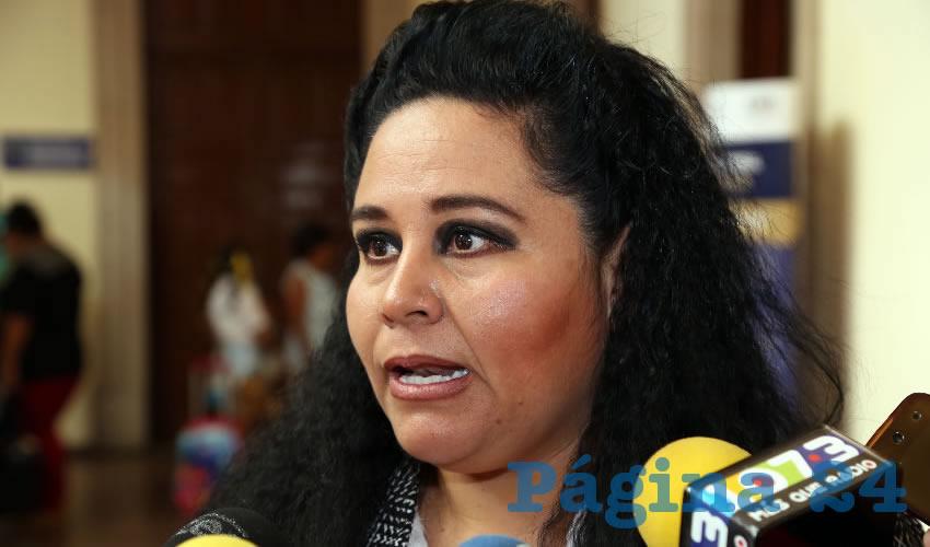 Georgina Tiscareño de Lira, coordinadora de Delegaciones Municipales