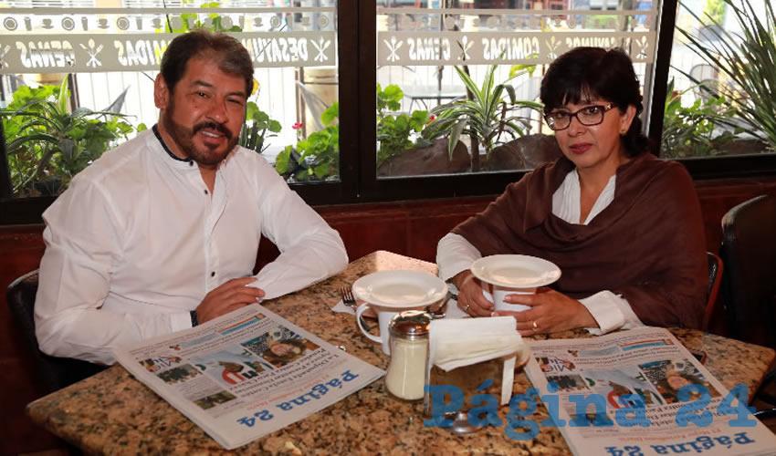 En Las Antorchas compartieron el pan y la sal Martín Sepúlveda Padilla y Rebeca Espino Flores