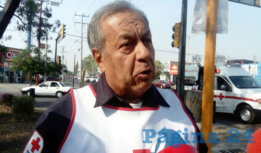 Homero Téllez Ortiz, coordinador de Socorros de la Cruz Roja