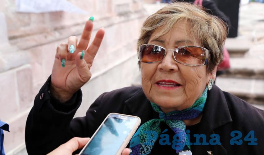 María de Jesús Rangel Velázquez, secretaria de la Coalición Estatal de Jubilados y Pensionados