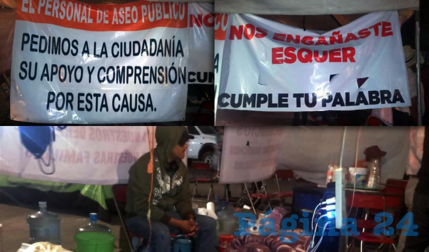 Protestan empleados de  Aseo Público de Zapotlán