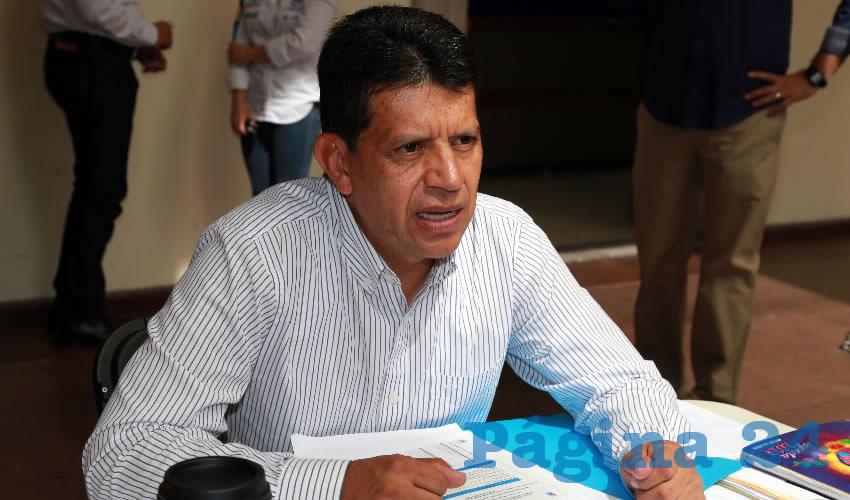 Marco Antonio Licón Dávila, secretario de Obras Públicas del Municipio
