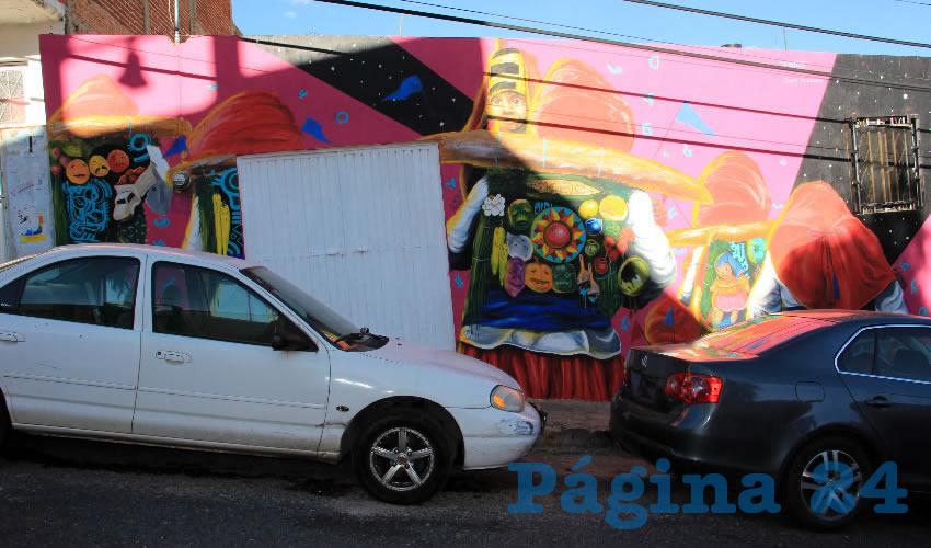 El mural fue realizado por Dagos como introducción a las actividades que se desarrollarán del 28 de junio al 8 de julio en el presente año, dentro del evento denominado Ciudad Mural