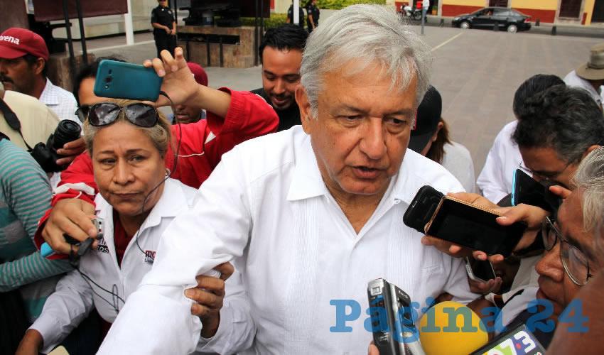 Andrés Manuel López Obrador, presidente nacional de Morena, visitó Aguascalientes para encabezar la firma del Acuerdo Político de Unidad por la Prosperidad del Pueblo y el Renacimiento de México