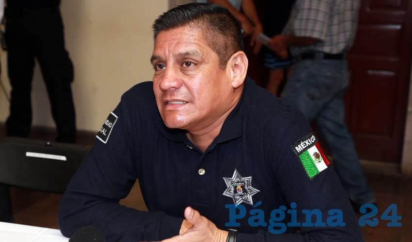 José Héctor Benítez López, secretario de Seguridad Pública del Municipio (Foto: Eddylberto Luévano Santillán)