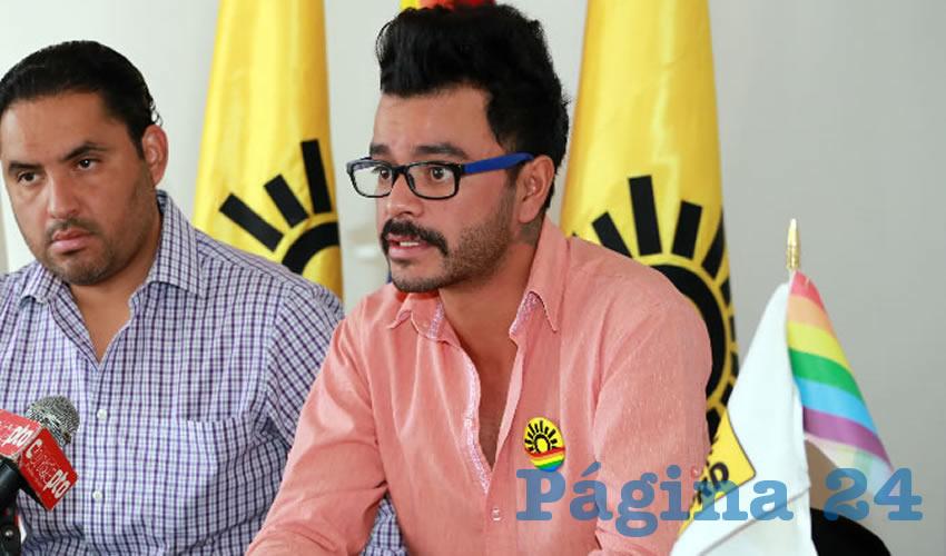 Efraín González Muro, secretario de Diversidad del PRD (Foto: Eddylberto Luévano Santillán)
