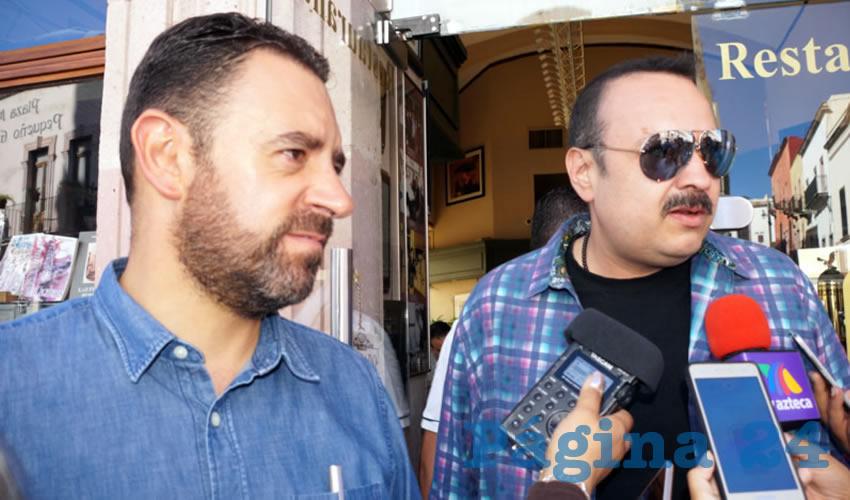 Se trabaja en conjunto con Pepe Aguilar y Alejandro Tello por Zacatecas (Foto Merari Martínez)