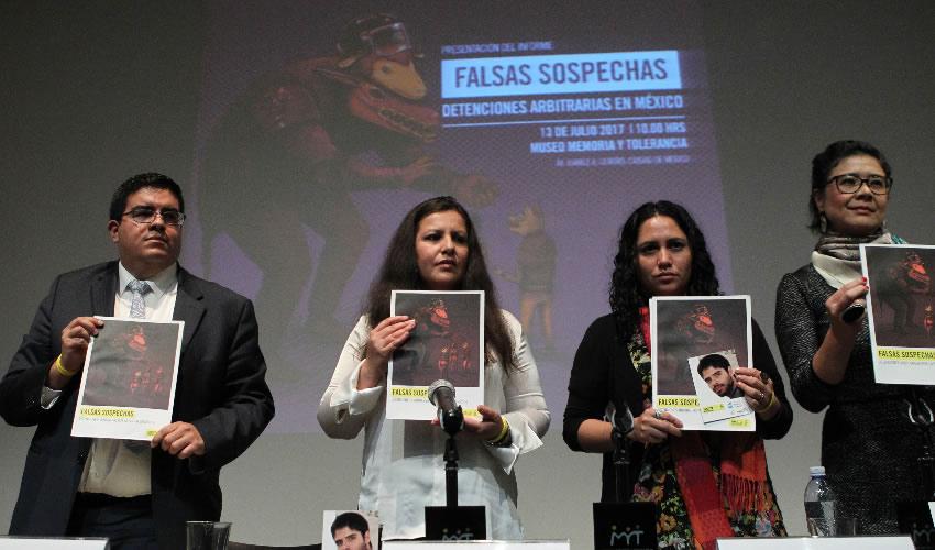 """Ciudad de México.- Conferencia """"Falsas sospechas: Detenciones arbitrarias"""" en el Museo Memoria y Tolerancia (Foto: Gabino Acevedo/ Cuartoscuro)"""