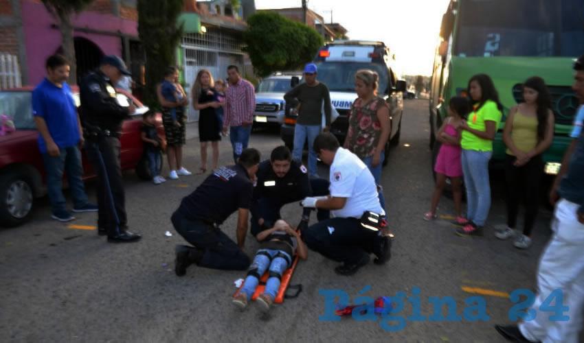 Melani Noelia fue arrollada sobre la calle Ignacio Marín, en el fraccionamiento J. Guadalupe Peralta Gámez