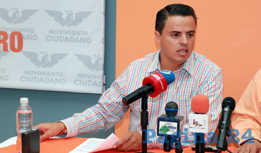 Jaime Durán Padilla, coordinador operativo de Movimiento Ciudadano (Foto: Eddylberto Luévano Santillán)