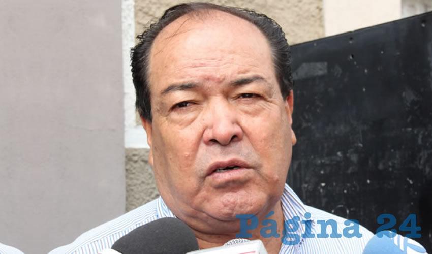 Refugio Eudave Ortiz, presidente de la Agrupación Taxistas Revolucionarios de Aguascalientes