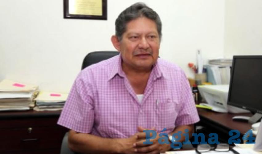 Roberto Mora Márquez, secretario general del Sindicato de Transportistas