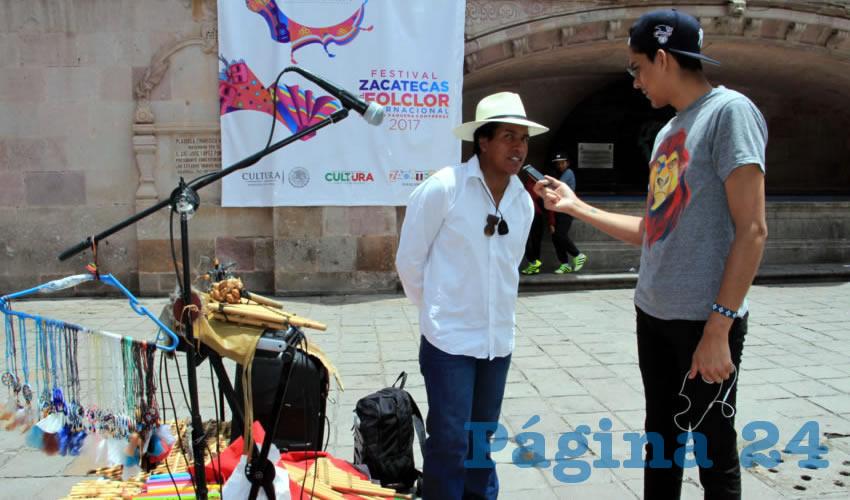 Jorge Eduardo Pineda Pineda: Sostuvo que en varias ocasiones ha visitado la capital zacatecana en temporadas vacacionales como en Semana Santa y otros festivales (Fotos Rocío Castro Alvarado)