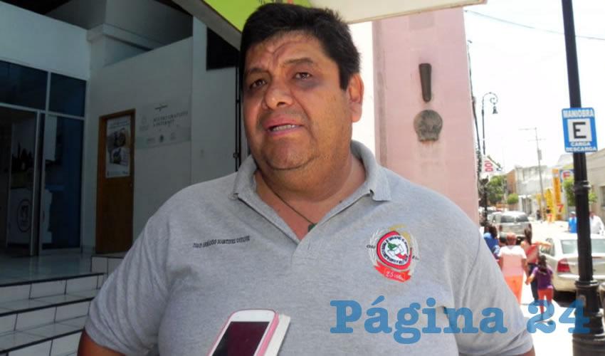 Juan Armando Martínez Godínez, secretario general del Sindicato Nacional de Trabajadores del Servicio Postal Mexicano en Aguascalientes