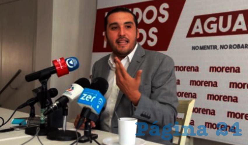 Aldo Ruiz Sánchez, presidente del Comité Ejecutivo Estatal del partido Movimiento de Regeneración Nacional (Morena)
